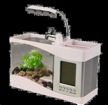 Mini acuario de escritorio 1.5 Lt.