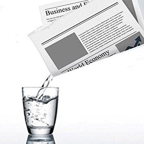 Bolsa para Líquido no Jornal