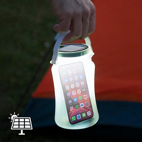 Garrafa Solar Silicone com Luz LED