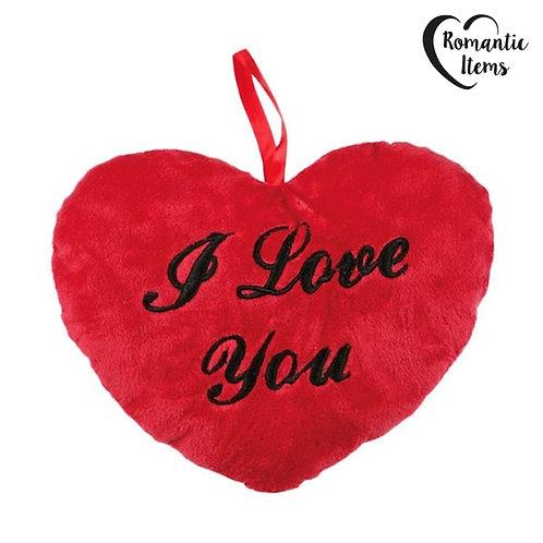 Coração de Peluche I Love You 10 cm