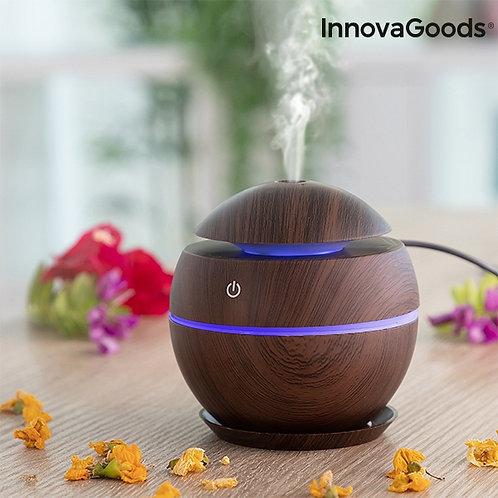 Mini Humidificador Difusor de Aromas (Dark Walnut)