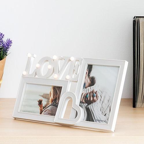 Porta-Retratos LED Love (2 fotos)