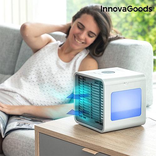 Mini Climatizador a Vapor Portátil com LEDS