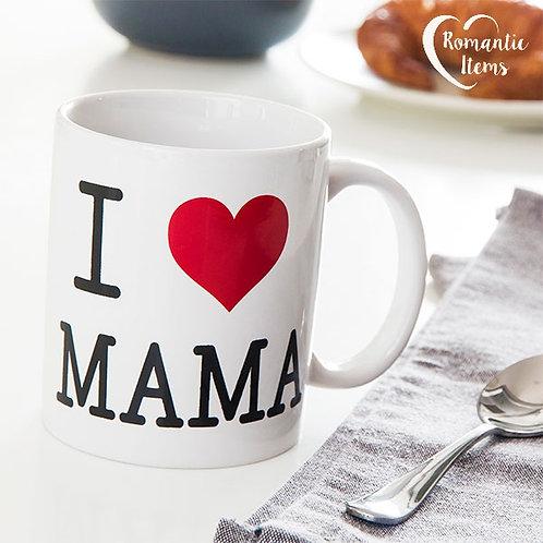 Caneca Romântica I love Mama