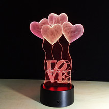 Lâmpada LED 3D Love