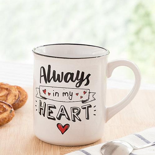 "Caneca ""ALWAYS IN MY HEART"" (300 ML)"
