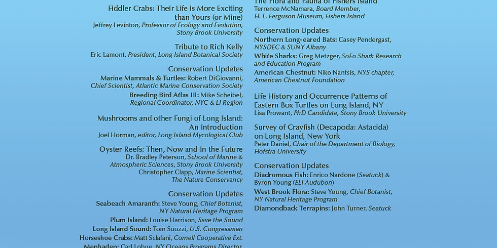 The 8th Annual Long Island Natural History Conference