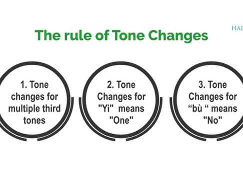 Mandarin Pinyin - Tone Changes