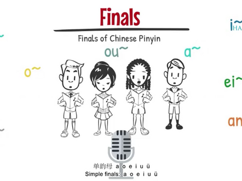 Mandarin Pinyin - Finals