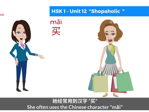 "Chinese Grammar - Use the Chinese character ""mǎi"" (Buy)"