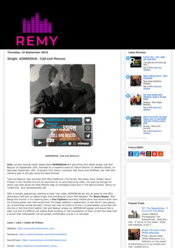ADMISSION band Remy music blog film blog 101mgmt band manager
