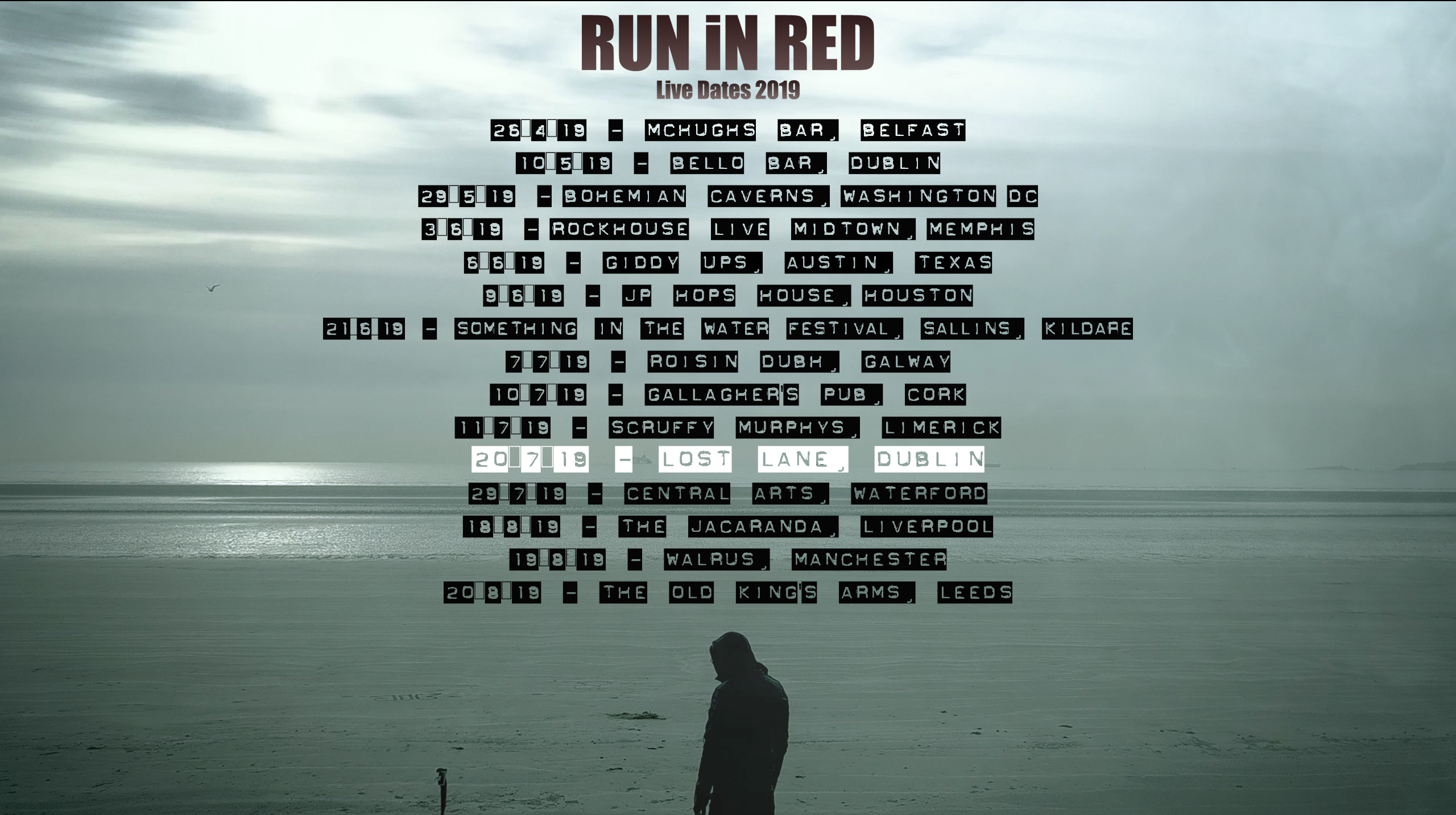 RUN iN RED LiVE dates 2019