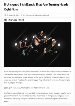 runinred the sharpe rir rire paint it red new bands to watch up and coming hwch ireland music week