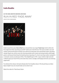 Run in Red 'Fade Away' Indie Buddie