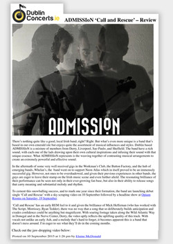 admission music band dublin branding dublin concerts offbeat graphics band logo one0onemgmt