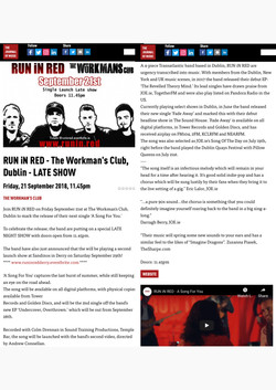 run in red the workmans club dublin ireland