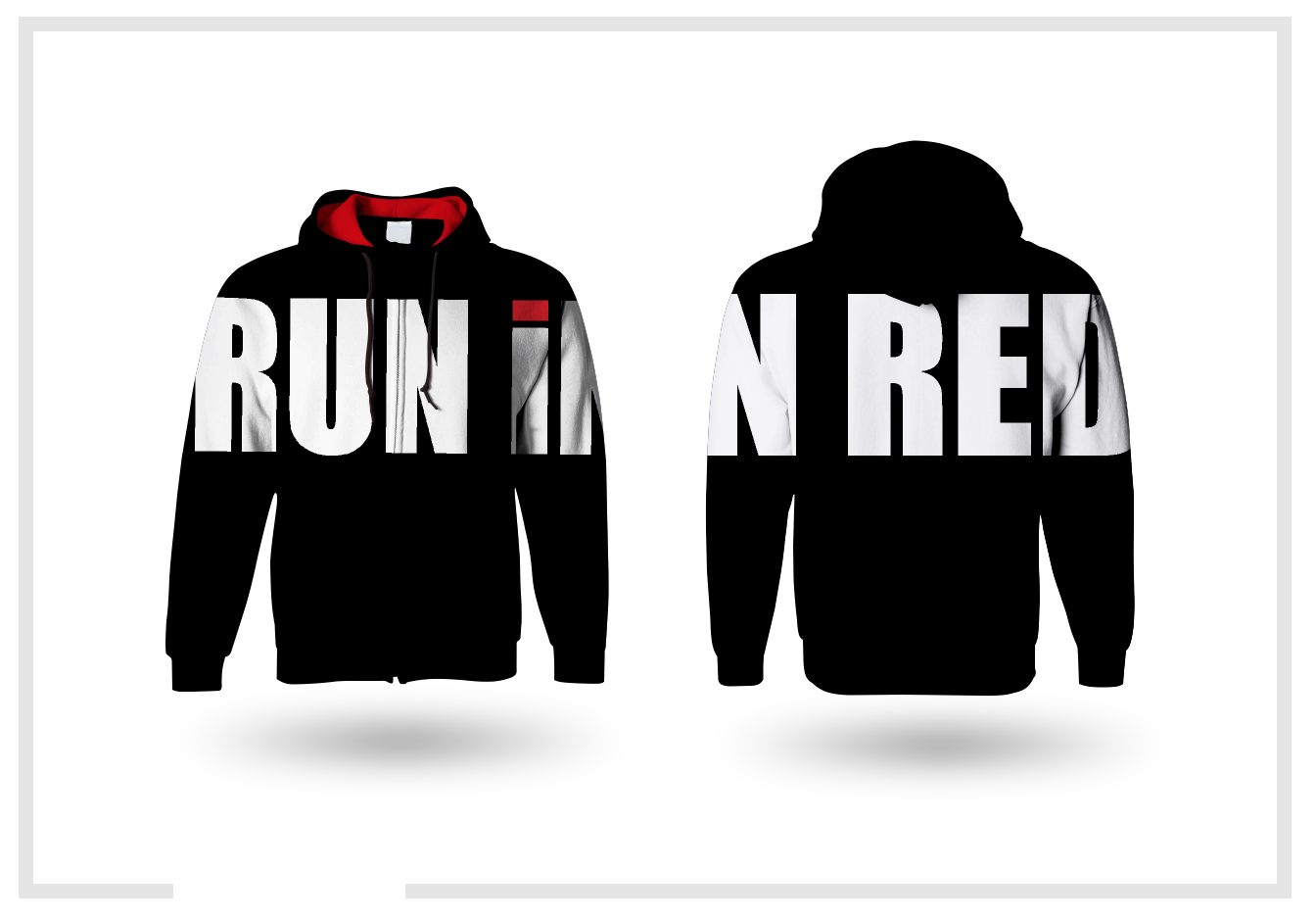 RUN iN RED Branded hoodies