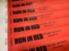 run in red lost lane band logo writsbands