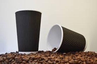 12oz Black Ripple Cups