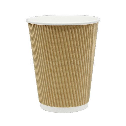 8oz Kraft Ripple Cup