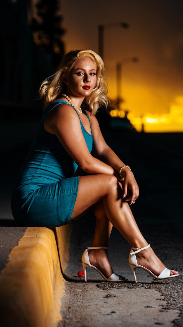 Monica model shoot