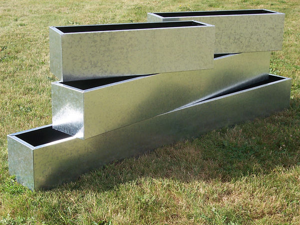 Galvanised Steel Planters by Contemporary Containers