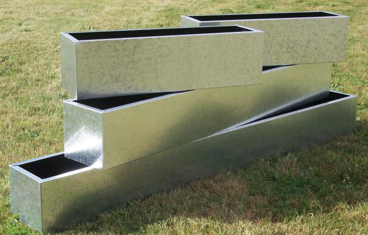 Galvanised Steel Planters