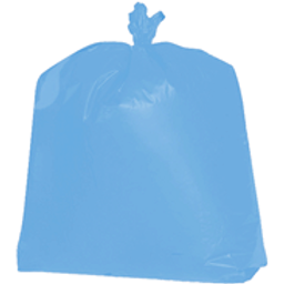 BLUE 55 GALLON TRASH CAN LINER