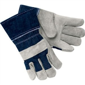 DENIM WORK GLOVES W/ SAFETY