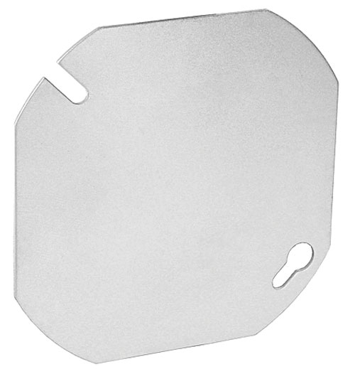 "4"" ROUND BLANK OCTOGAN COVER METAL"