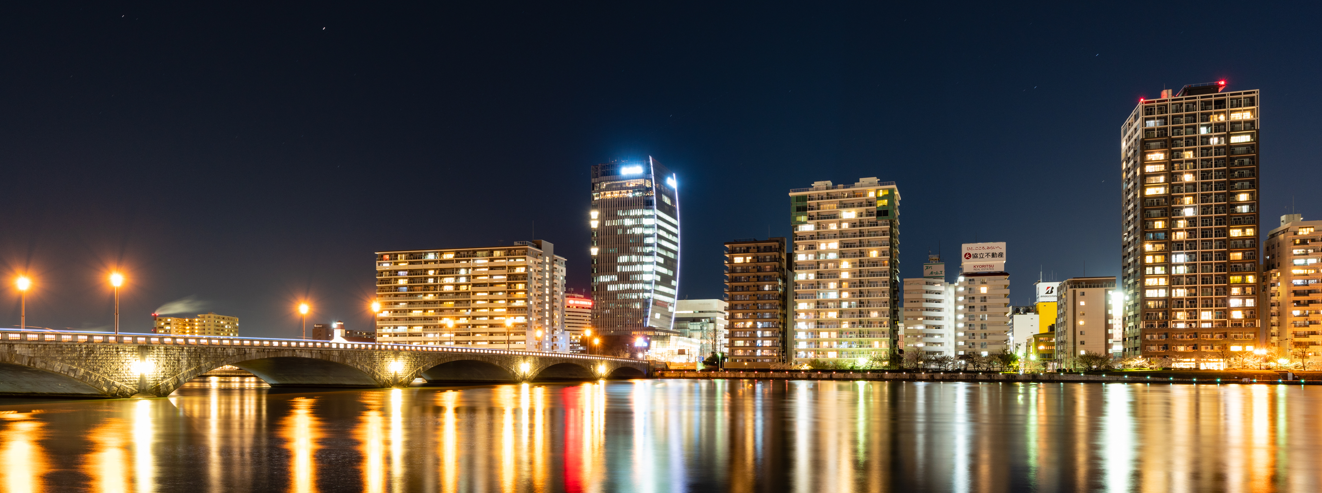 新潟県 万代夜景