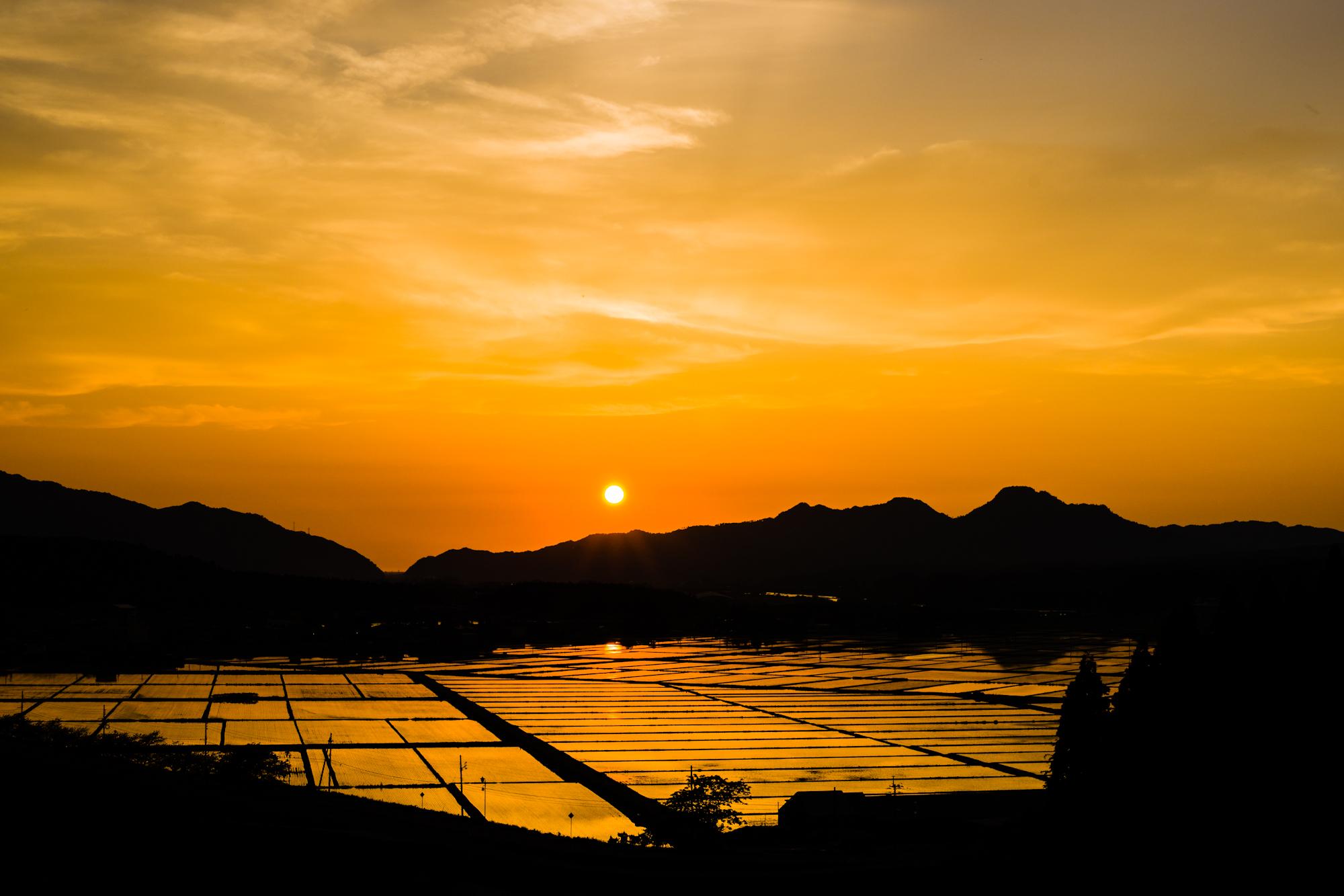 新潟県 関川村夕景
