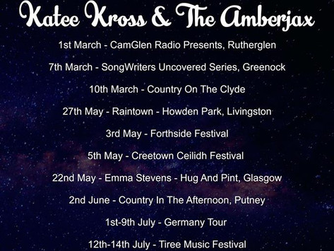 Upcoming Gigs For April 2019