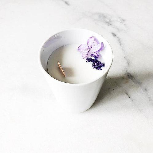 Bougie Fleurie à la Violette - Petite