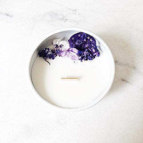 Bougie Fleurie à la Violette - Cocon