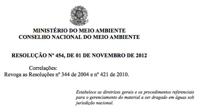 Conama 454_2012