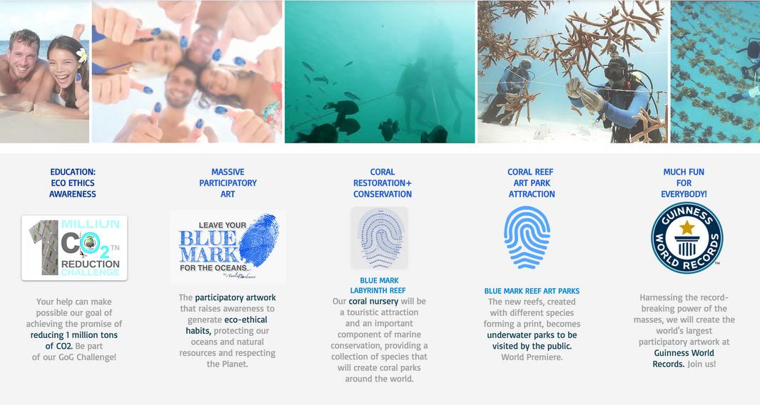 BLUE MARK ART PROJECT by ANALIA BORDENAVE