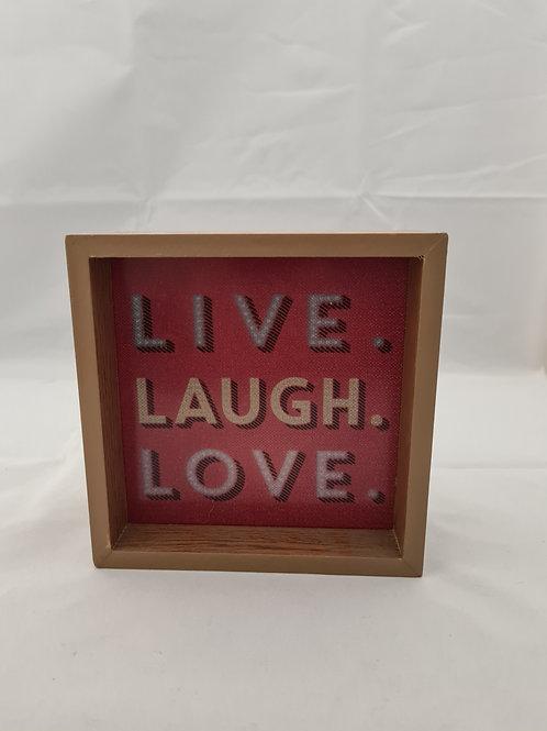 Live laugh love light up box