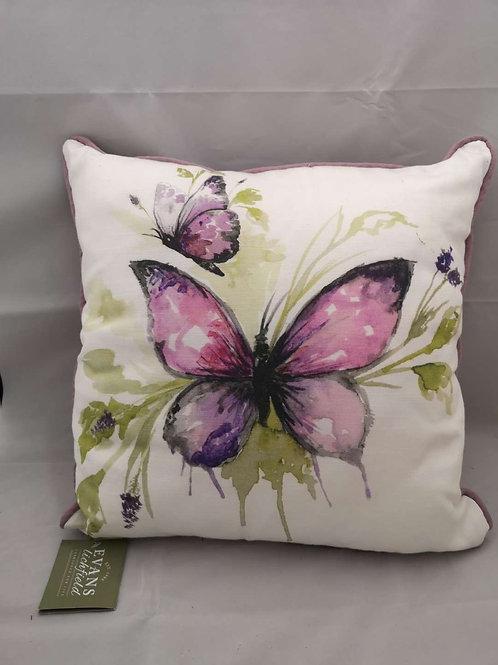 Lavender papillon  cushion