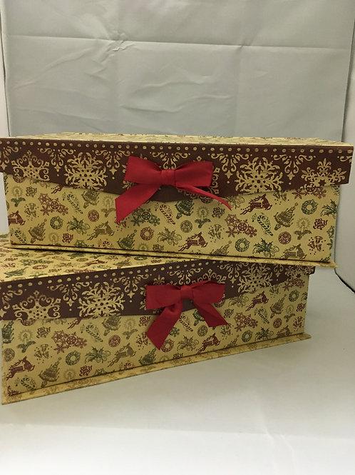 Large rectangular Christmas gift boxes