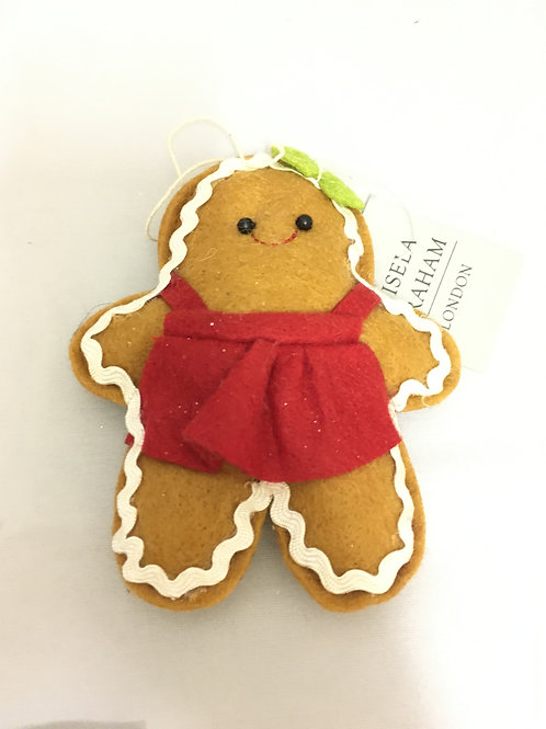 Sewn gingerbread tree ornament