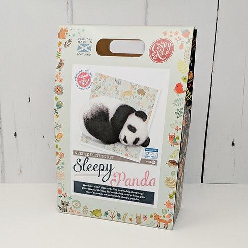 Sleepy Panda Needle Felting Kit