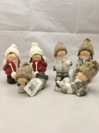 Ceramics snow children
