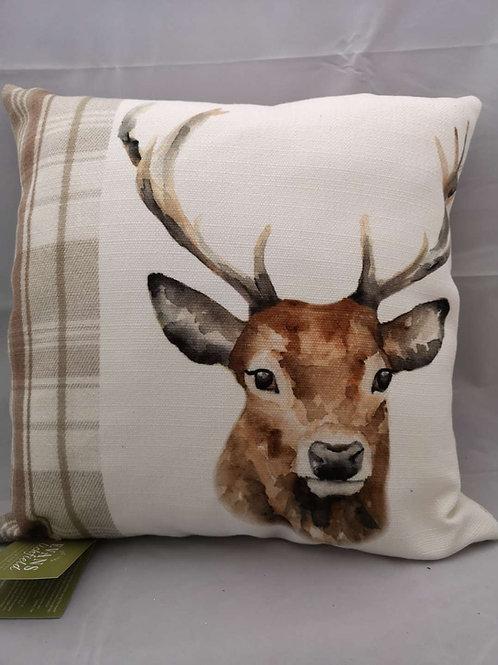 Natural stag cushion