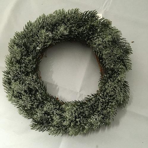 Sparkly snow wreath