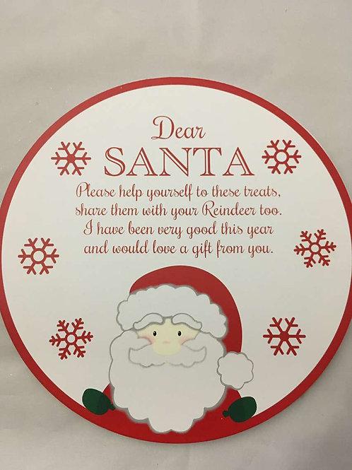 Dear Santa wooden board