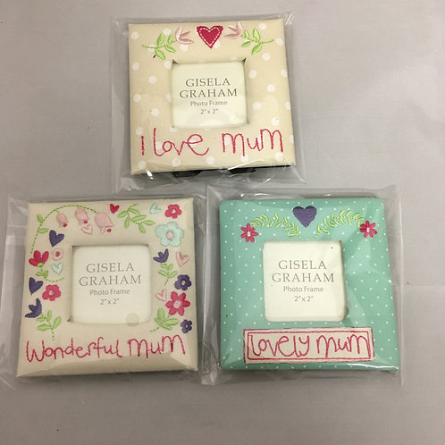 Mum mini photo frames with stands