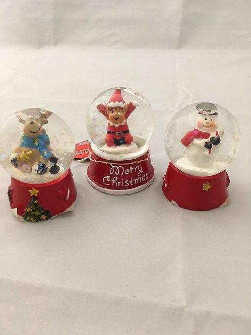 Mini Christmas snow globes.