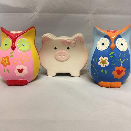 Animal piggy banks