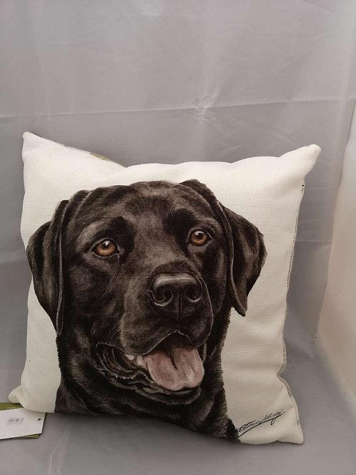 Boston WD black Labrador cushion